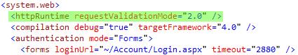 requestValidationMode